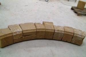 partie d'arc surbaisse cheminée